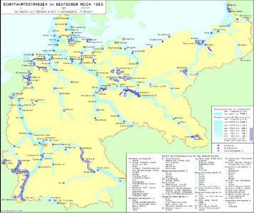 Schiffahrtsstraßen im Deutschen Reich 1893