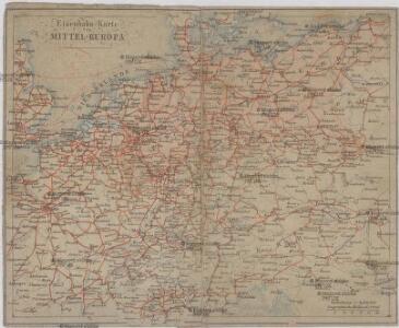 Eisenbahn-Karte von Mittel-Europa