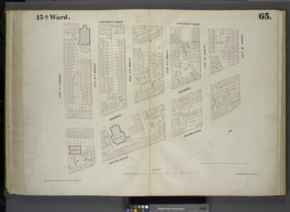 [Plate 65: Map bounded by University Place, East 14th Street, Fourth Avenue, East 9th Street.]