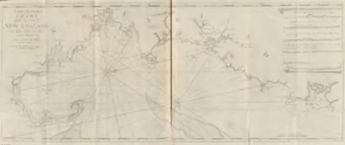 A new and correct chart of the sea coast of New-England from Cape Codd to Casco Bay