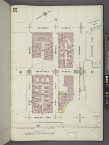 Manhattan V. 7, Plate No. 55 [Map bounded by Columbus Ave., Cathedral Parkway, Central Park West, W. 108th St.]