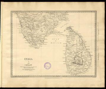 India I and Ceylon. Published under the Superintendence of the Society for the Diffusion of Useful Knowledge.