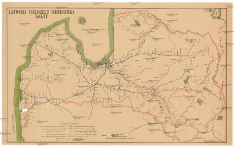 Latwijas dselsszełu schematiska karte