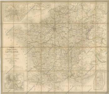 Carte Routiere et Postale de la France