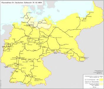 Eisenbahnen im Deutschen Zollverein 31.12.1854