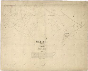 Katastrální mapa obce Vlčí