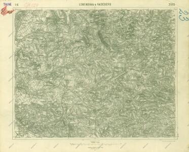 III. vojenské mapování 3552