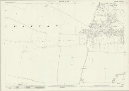 Berkshire X.13 (includes: Drayton; Milton; Steventon; Sutton Courtenay) - 25 Inch Map