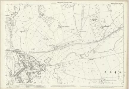 Monmouthshire XIX.15 (includes: Gwehelog Fawr; Llanbadog Fawr; Llantrisaint Fawr; Usk) - 25 Inch Map