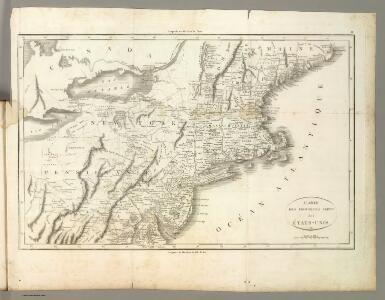 Carte des Provines Septles. des Etats-Unis.