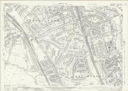 Hertfordshire XLV.8 (includes: Arkley; Barnet Vale; Chipping Barnet; East Barnet; Finchley; Friern Barnet; Totteridge) - 25 Inch Map