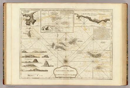 Chart of the Acores (Hawks) Islands.