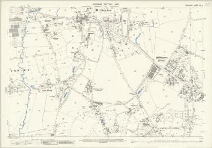 Middlesex XIV.8 (includes: Uxbridge; Yiewsley and West Drayton) - 25 Inch Map