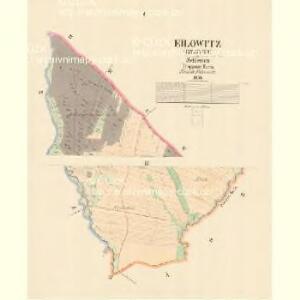 Eilowitz (Gilowec) - m1106-1-001 - Kaiserpflichtexemplar der Landkarten des stabilen Katasters