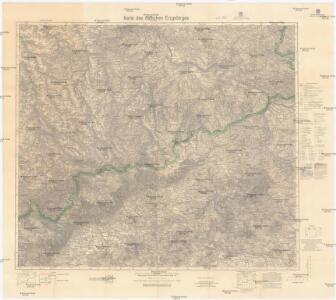 Karte des östlichen Erzgebirges