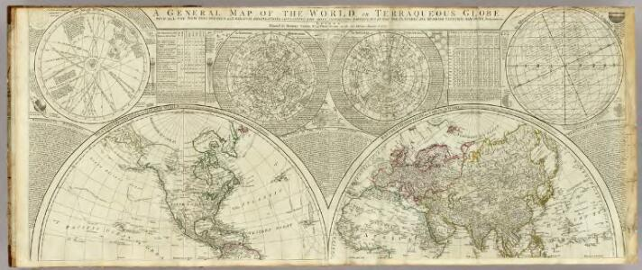 A general map of the world or terraqueous globe.