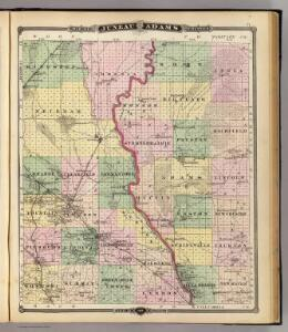 Map of Juneau and Adams counties, State of Wisconsin.