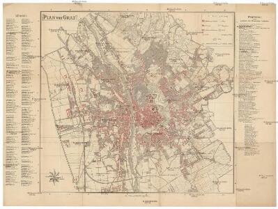 Plan von Graz