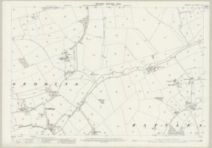 Suffolk LV.7 (includes: Drinkstone; Felsham; Gedding; Rattlesden) - 25 Inch Map