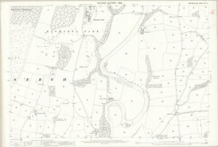 Westmorland XLIII.12 (includes: Mansergh; Middleton) - 25 Inch Map