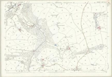 Somerset XLVI.8 (includes: Cutcombe; Timberscombe) - 25 Inch Map