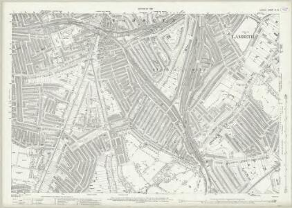 London (1915- Numbered sheets) IX.10 (includes: Camberwell; Lambeth St Mary) - 25 Inch Map