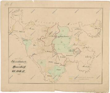 Přehledová mapa velkostatku Kladruby