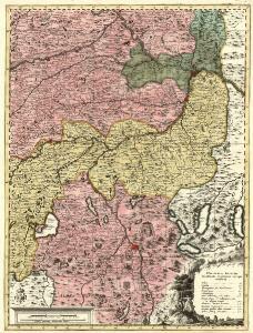 Sacri Imperii Romani Circuli et Electoratus Bavariae cum Finitimis Geographica Descriptio. Cum Privilegio D.D. Ordinum Generalium ut et Hollandiae West Frisiaequae]