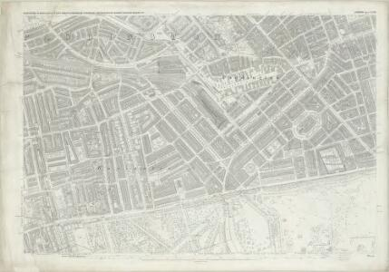 London (First Editions c1850s) XXXIII (includes: City Of Westminster; Paddington; St Marylebone) - 25 Inch Map