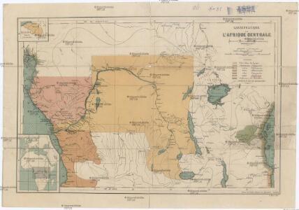 Carte politique de l'Afrique centrale