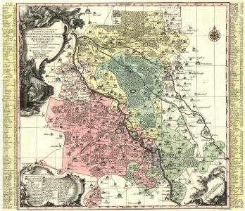 Electoratus Saxonici Praefecturae Annaburgensis Pretzschens. Torgaviensis Schweinicensis, Mühlbergensis studio geographico