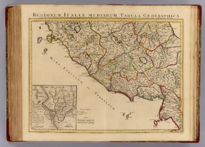 Italiae mediarum tabula geographica.