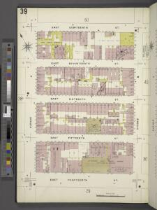 Manhattan, V. 2, Plate No. 39 [Map bounded by E. 18th St., Avenue B, E. 14th St., Avenue A]