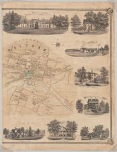 Map of the town of Waltham, Middlesex County, Mass : Village