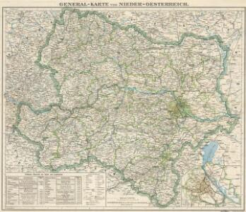 General-Karte von Nieder-Osterreich
