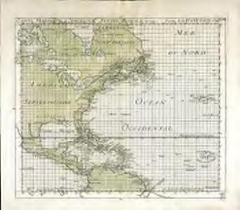Carte marine de l'Amerique septentrionale et une partie de la B.e d'Hudson
