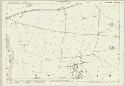 Gloucestershire XXVIII.10 (includes: Haselton; Hawling; Naunton; Notgrove) - 25 Inch Map