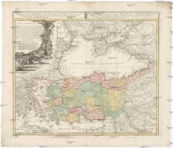 Carte de l'Asie Minevre ou de la Natolie et du Pont Evxin, tirée des voyages et des observations des anciens et modernes, et dresée suivant les principes d'une nouvelle projection