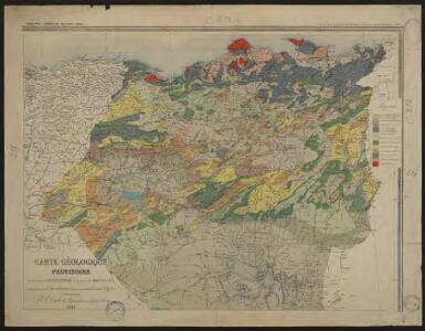 Carte géologique provisoire de la province de Constantine et du Cercle de Bou-Saada