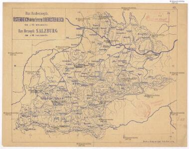 Das Erzherzogth. Österreich ob der Enns oder Oberösterreich, das Herzogth. Salzburg