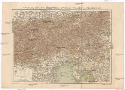Korutany, Krajina, Salcbursko, Štýrsko, Tyrolsko a Vorarlbersko