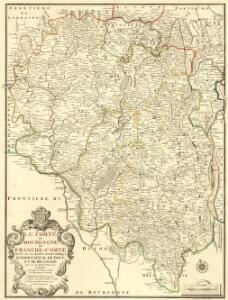 Le Comté de Bourgogne dit Franche-Comté Divisé en ses Quatre Grands Balliages d'Amont, d'Aval, de Dole, et de Besançon