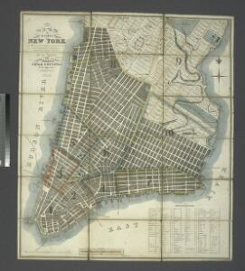 Plan of the city of New-York : the greater part from actual survey made expressly for the purpose (the rest from authentic documents) / by Thos. H. Poppleton, city surveyor ; P. Maverick sc. Newark.