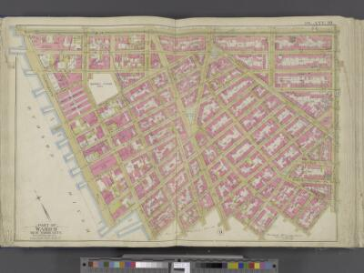 Manhattan, Double Page Plate No. 10 [Map bounded by W. 14th St., 6th Ave., Bedford St., Hudson River]