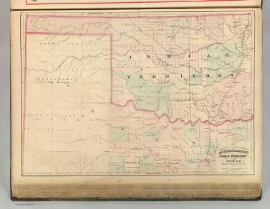 Indian Territory and Texas, North West Portion.