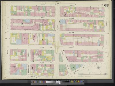 Manhattan, V. 3, Double Page Plate No. 63 [Map bounded by W. 17th St., 8th Ave., Little 12th St., 10th Ave.]