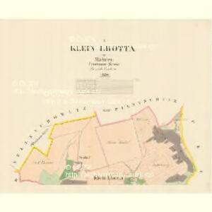 Klein Lhotta - m1533-1-001 - Kaiserpflichtexemplar der Landkarten des stabilen Katasters