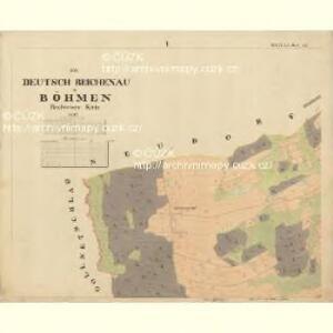 Deutsch Reichenau - c6659-2-001 - Kaiserpflichtexemplar der Landkarten des stabilen Katasters