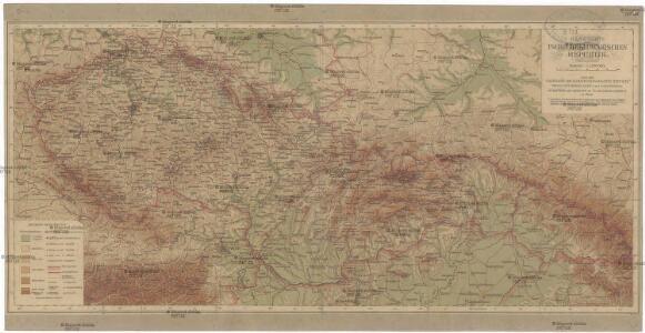 Handkarte der Tschechoslowakischen Republik