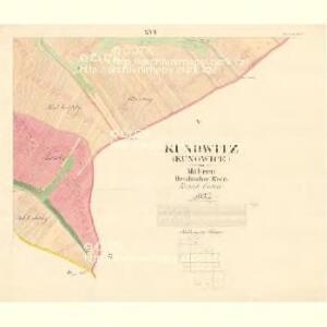 Kunowitz (Kunowice) - m1435-1-021 - Kaiserpflichtexemplar der Landkarten des stabilen Katasters